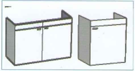 Meuble cache cuve